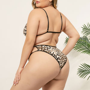 Leopard Print Bra Brief Sets - Saikin-rettou