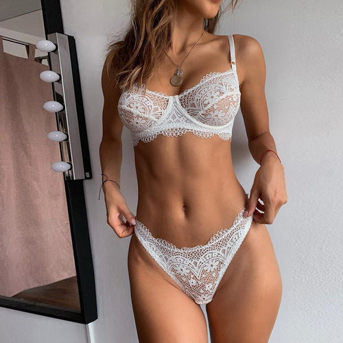 Lace Bra And Panty Set - Mcburneyjunction