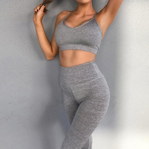 High Waist Leggings and Sports Bra - Saikin-rettou