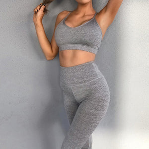 High Waist Leggings and Sports Bra - OneWorldDeals