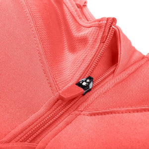 Front Zipper Sports Bra - Mcburneyjunction