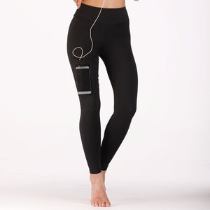 High Waist Women Leggings With Phone Pocket - Mcburneyjunction
