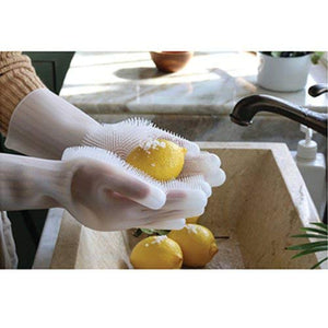 1 Pair Magic Silicone Home + Kitchen Cleaning Gloves - Mcburneyjunction