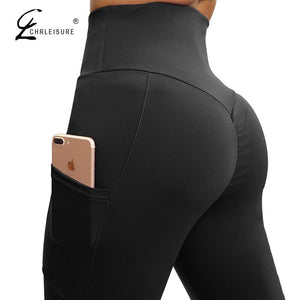 Women High Waist Leggings With Pocket - Mcburneyjunction