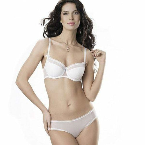 Semi Sheer Balconette Bra - Mcburneyjunction