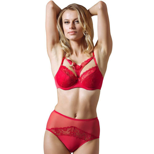 Full Coverage Lace Cage Bra Lauma Rouge - OneWorldDeals