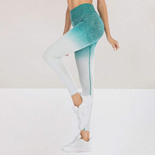 Kureas Fitness Leggings Women Stretchy Workout Push Up High Waist Butt Skinny Pants Breathable Quick dry Gradient Macarons on AliExpress - OneWorldDeals