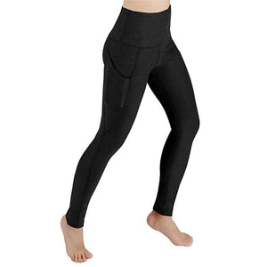 Women Leggings Pocket Sports Gym Running Athletic Pants Workout Fitness Leggings Women Clothes Trousers - Saikin-rettou