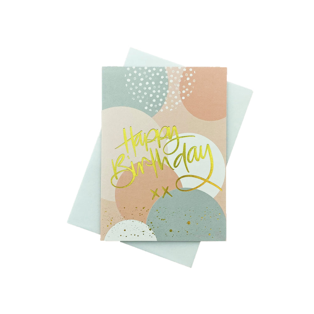 Load image into Gallery viewer, Birthday Bubbles Greeting Card - Peach