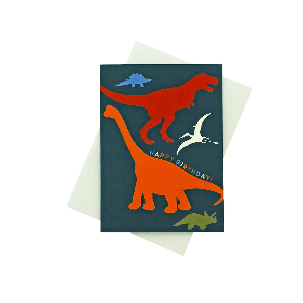 Load image into Gallery viewer, Birthday Dinosaurs Greeting Card