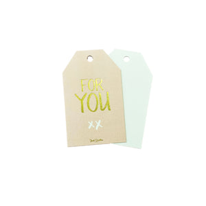 For You XX Gift Tag