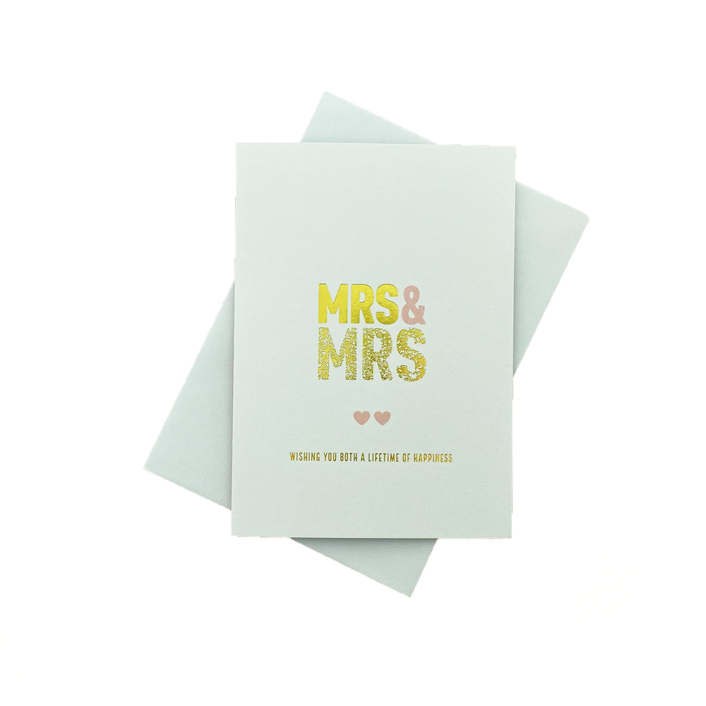 MRS + MRS Greeting Card