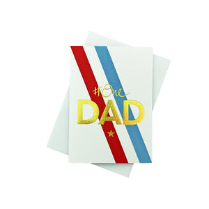 # One Dad Greeting Card - Stripes