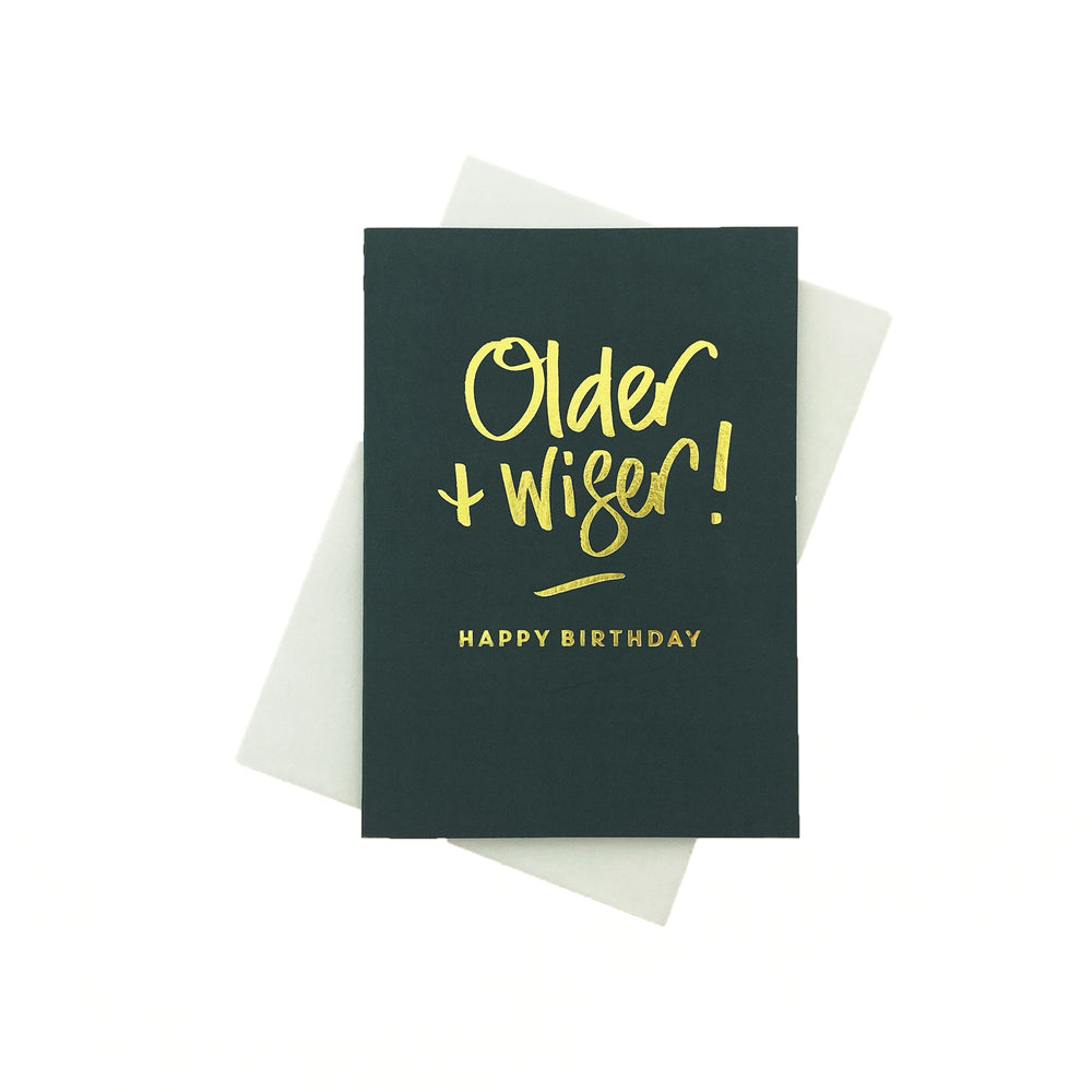 Load image into Gallery viewer, Older + Wiser Greeting Card