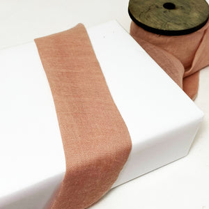 Frayed Faux Raw Silk Ribbon