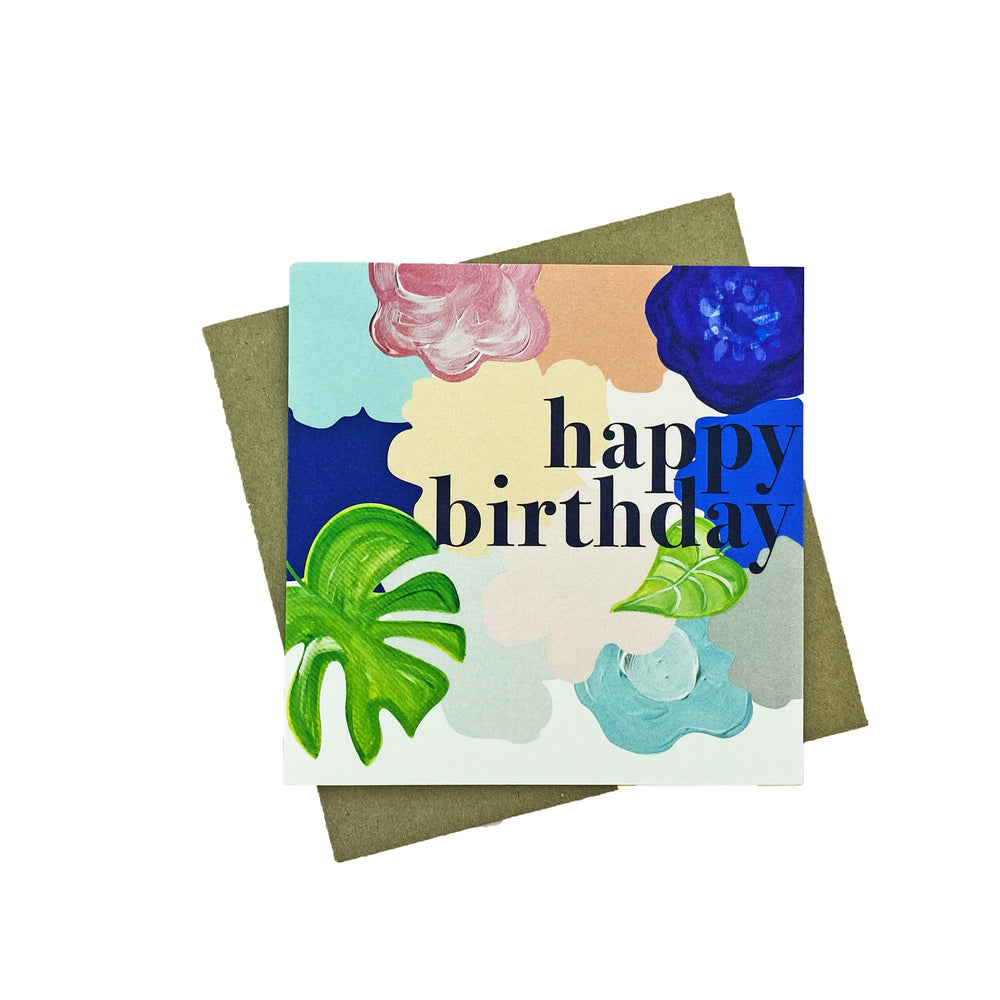 Bold Floral Birthday Greeting Card
