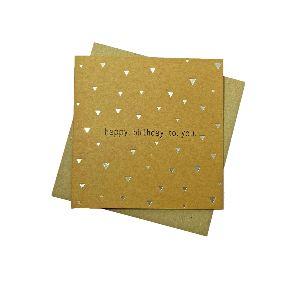 Happy Birthday To You Greeting Card - Kraft/Silver