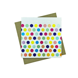 Polka Dots Birthday Greeting Card