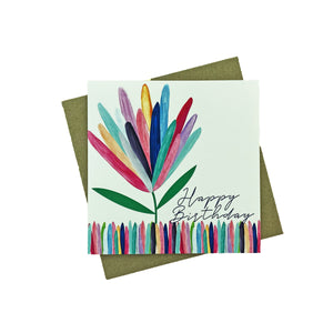Protea Birthday Greeting Card