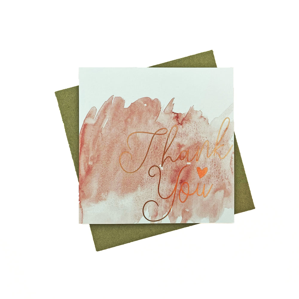 Watercolour Thank You Greeting Card