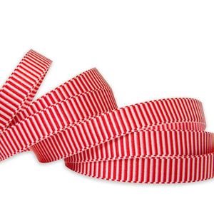 Alice Grosgrain Ribbon - Red/White