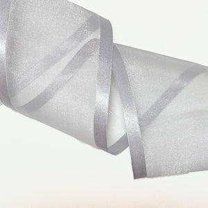 Load image into Gallery viewer, Satin Edge Organza - Silver