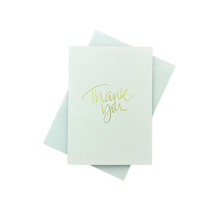 Load image into Gallery viewer, Thank You Greeting Card - White
