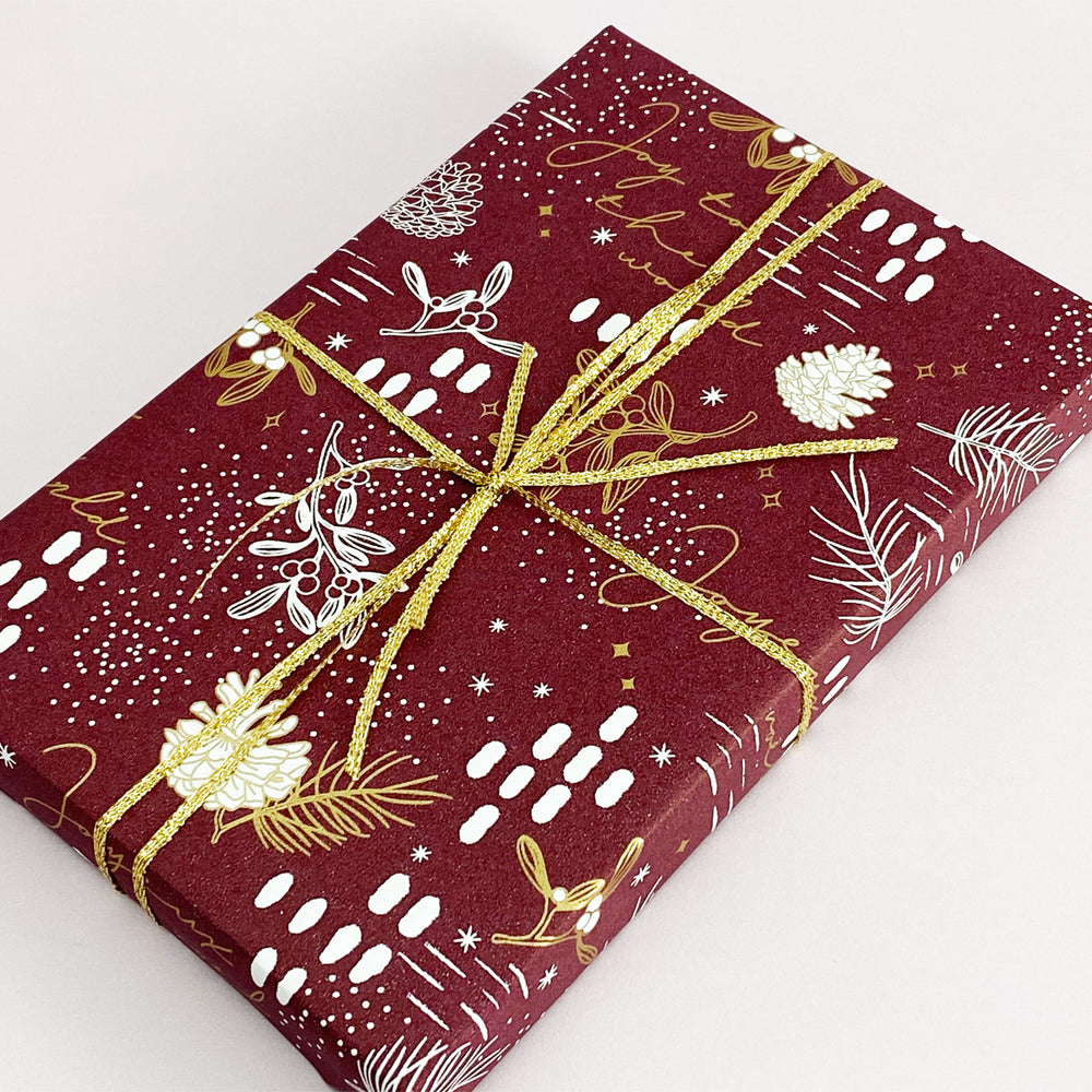 Load image into Gallery viewer, Under the Mistletoe - Plum/Gold