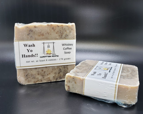 WASH YO HANDS! Whiskey Coffee Soap