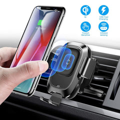 Wireless Car Phone Fast Charger - Intelligent Infrared Phone Holder | Cyber Drive Vent