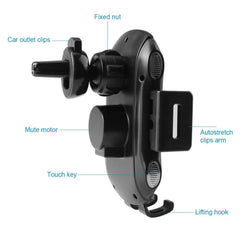 Wireless Car Charger Automatic Clamping Vent Mount | Venom 500