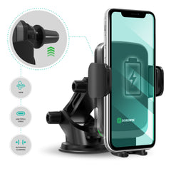 Wireless Cell Phone Car Fast Charger - Intelligent Auto-Clamping Phone Holder | DORENITA