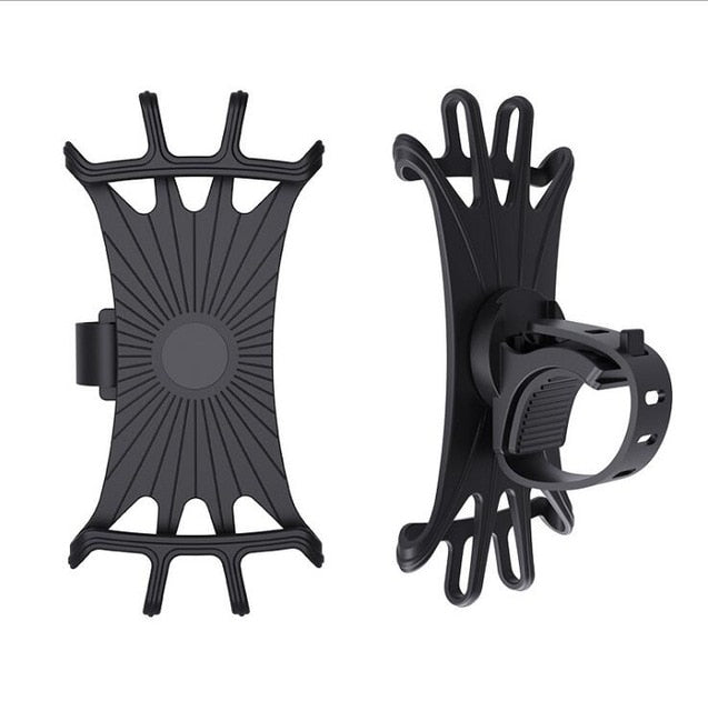 Bike Phone Mount, 360°Rotation Silicone Bicycle Phone Holder