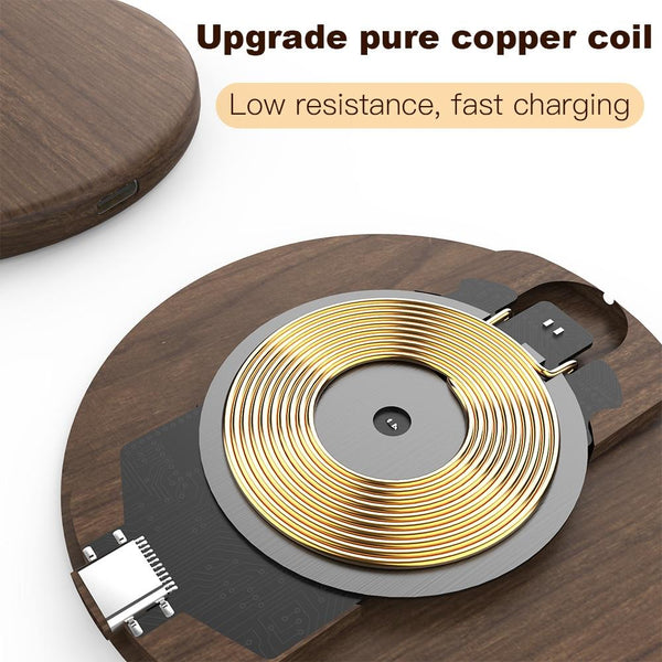 KEYSION Wooden 10W Qi Wireless Charger Pad