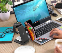 Bonola 3 in 1 Wireless Charging Stand for IWatch iPhone 11Pro/Xr/Xs max