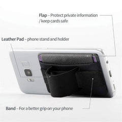 Leather Multi-function Adhesive Sticker Back Cover