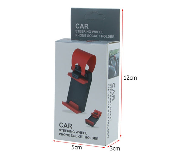 Universal Car Cell Phone Holder Steering Wheel Clip