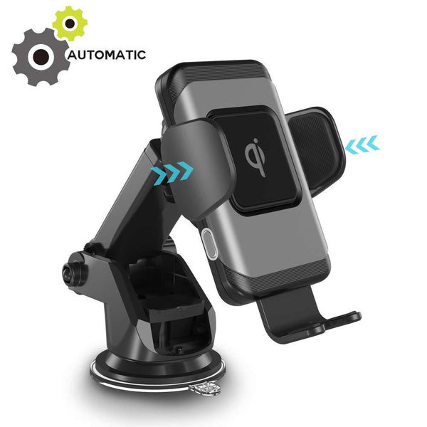 Wireless Car Charger - Fast Charging Auto-Clamping Car Mount - 10W - With QC | Supreme Chargers