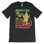 The Soul Rebels Live at Le Bon Temps Unisex Tee - Red/Yellow/Green