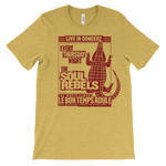 The Soul Rebels Live at Le Bon Temps Unisex Tee - Heather Yellow with Red