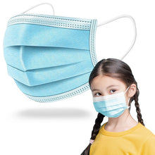 Load image into Gallery viewer, BULK Child's 3-Ply Disposable Face Masks (Kids Ages 4-12)