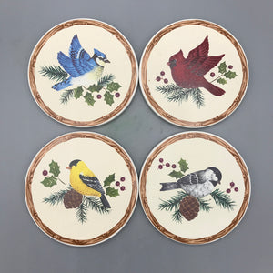 Christmas Bird Coasters
