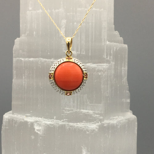 Coral and Citrine Necklace