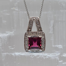 Load image into Gallery viewer, Tourmaline and Diamond Necklace
