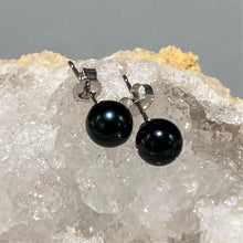 Load image into Gallery viewer, Black Pearl Earrings