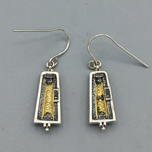Load image into Gallery viewer, Sterling Silver and 18K Yellow Gold Earrings