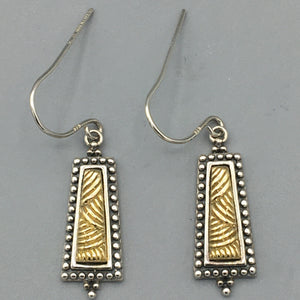 Sterling Silver and 18K Yellow Gold Earrings