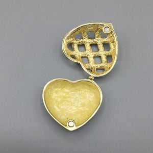 Heart Enamel Trinket Box