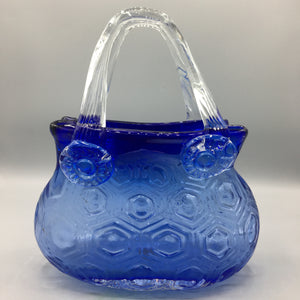Handblown Purse Vase