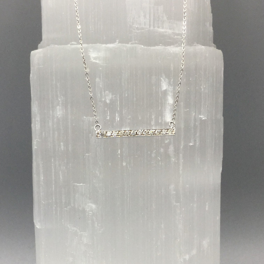 Diamond Bar Necklace